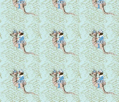 Ashley and her magical seahorse fabric by karenharveycox on Spoonflower - custom fabric