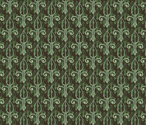 fleurdelis-pr_triple_mintcookie fabric by glimmericks on Spoonflower - custom fabric