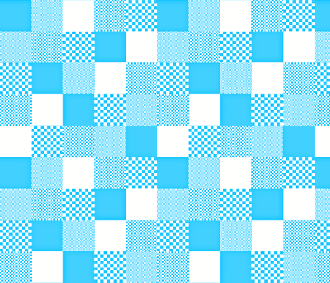 checkitout_bluesky fabric by glimmericks on Spoonflower - custom fabric