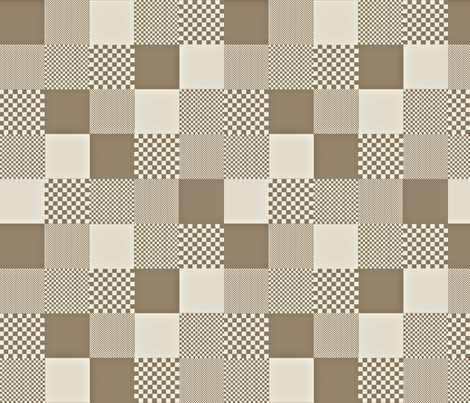 checkitout_mocha fabric by glimmericks on Spoonflower - custom fabric