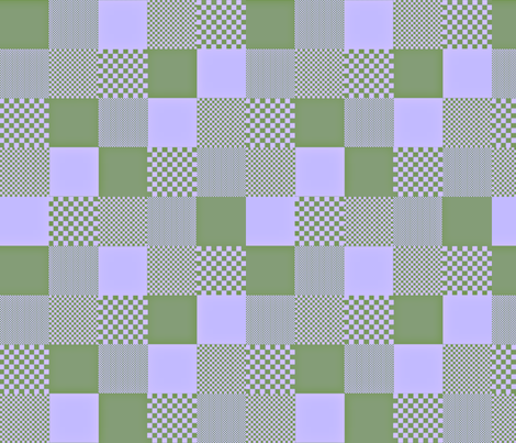 checkitout_hydrangea fabric by glimmericks on Spoonflower - custom fabric
