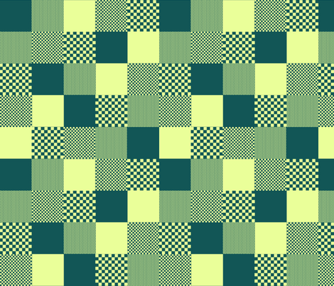 checkitout_springpond fabric by glimmericks on Spoonflower - custom fabric