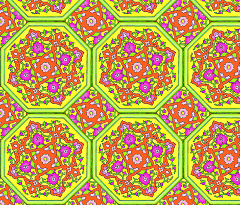 Persian Tile - Spring fabric by peacoquettedesigns on Spoonflower - custom fabric