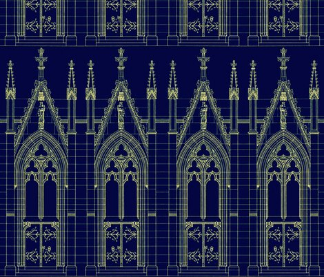 Church door blue print wallpaper peacoquettedesigns spoonflower rrrrrchurchdoor 001shoppreview church door blue print fabric malvernweather