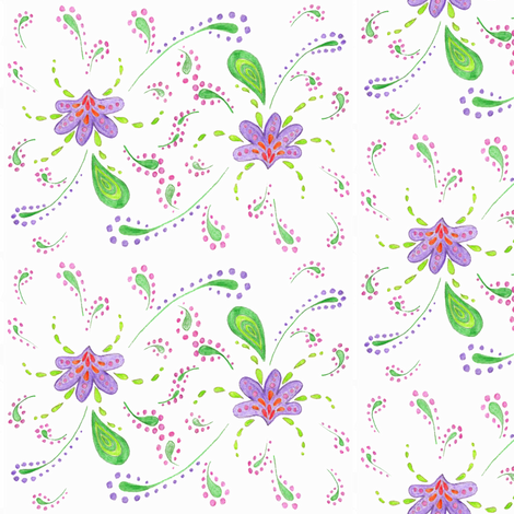 paisley flowers fabric by krs_expressions on Spoonflower - custom fabric