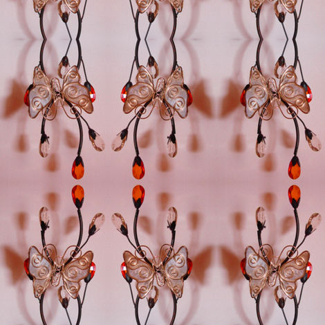 pink glass butterfly fabric by krs_expressions on Spoonflower - custom fabric