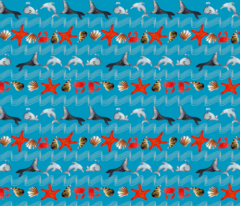 océan_oh_bleu_M fabric by nadja_petremand on Spoonflower - custom fabric