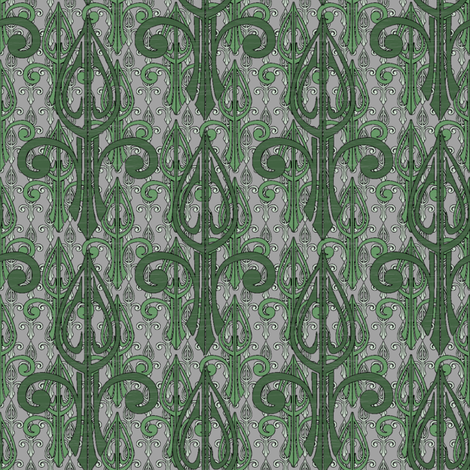 fleurdelis-pjr2_triple_forest fabric by glimmericks on Spoonflower - custom fabric