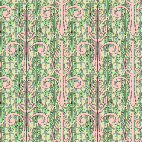 fleurdelis-pjr2_triple_spring_folly fabric by glimmericks on Spoonflower - custom fabric