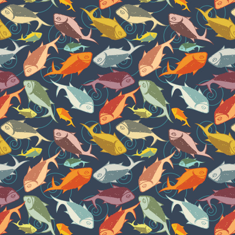 The Fish Fandango fabric by meredithjean on Spoonflower - custom fabric