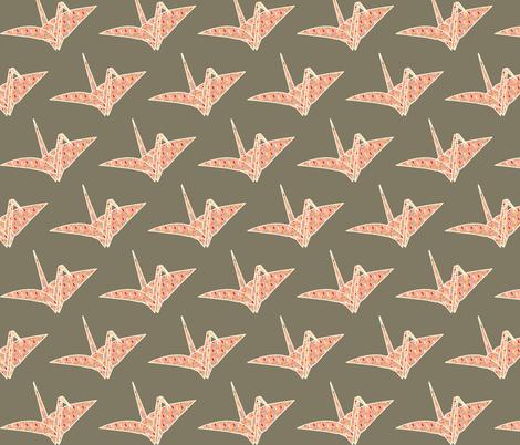 Sprinkled Origami Crane fabric by heidikenney on Spoonflower - custom fabric