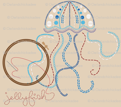Embroidered Jellyfish
