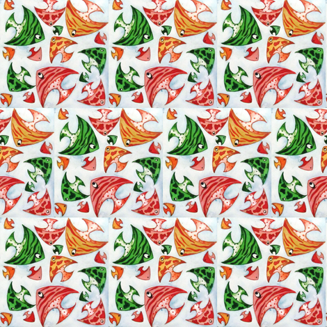 oh!!!!fish! fabric by risha on Spoonflower - custom fabric