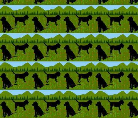 bloodhound fabric by ninjaauntsdesigns on Spoonflower - custom fabric