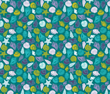 Seashell fabric by cassiopee on Spoonflower - custom fabric