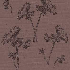 Queen ann lace on vintage purple
