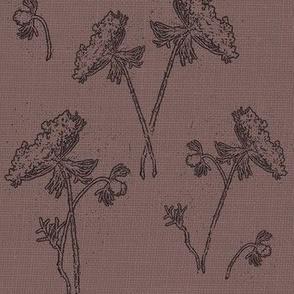 Queen ann lace on vintage purple