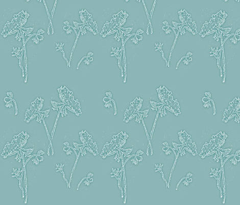 Queen Ann on Robins egg blue fabric by retrofiedshop on Spoonflower - custom fabric