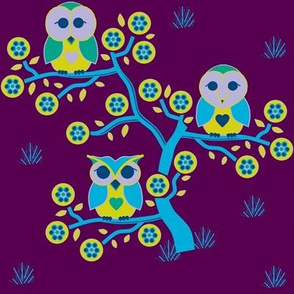 3 little owls wide awake