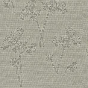 Queen ann lce on vintage grey