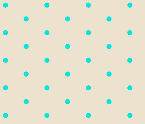 Wider Aqua Dots on Cream fabric by jennyf on Spoonflower - custom fabric