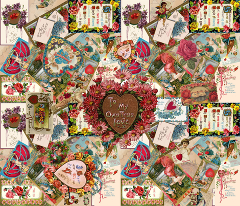 Let Me Call You, Sweetheart fabric by peacoquettedesigns on Spoonflower - custom fabric