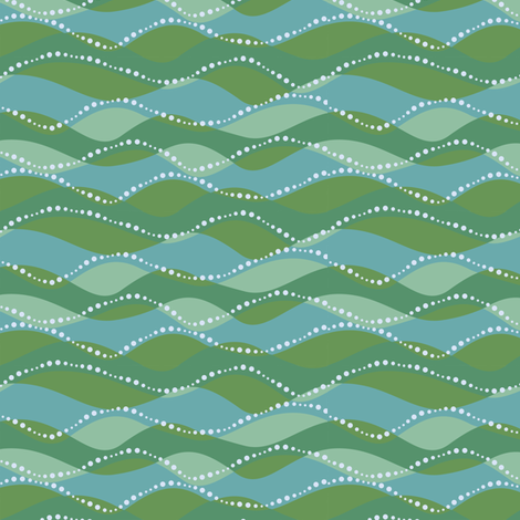 Sea waves fabric by cjldesigns on Spoonflower - custom fabric