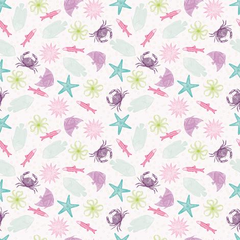 miniSEAlife fabric by natasha_k_ on Spoonflower - custom fabric
