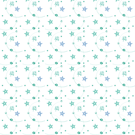 starfish_and_pearls fabric by jbhorsewriter7 on Spoonflower - custom fabric