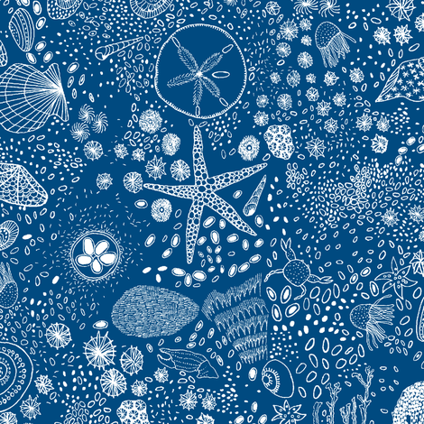 tiny sea creatures fabric by jeannemcgee on Spoonflower - custom fabric