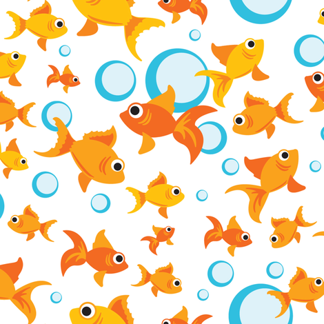 Bubble Trouble and Fish Confusion fabric by sew-me-a-garden on Spoonflower - custom fabric