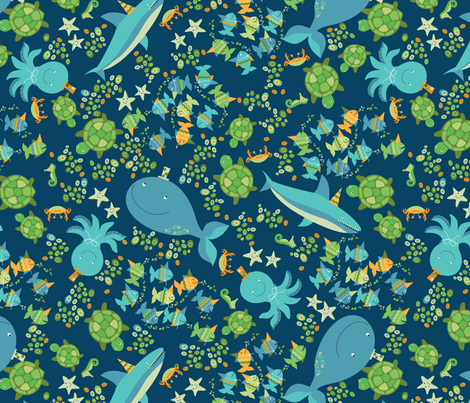ECO-wmb_Sea_Party fabric by wendybentley on Spoonflower - custom fabric