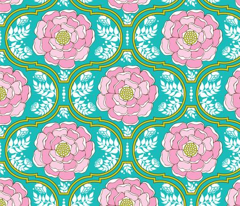 Yogita : India Floral Island fabric by hairpik on Spoonflower - custom fabric