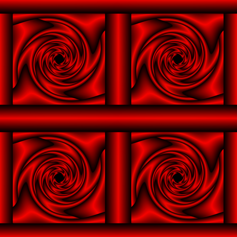 CagedMindsRed fabric by grannynan on Spoonflower - custom fabric