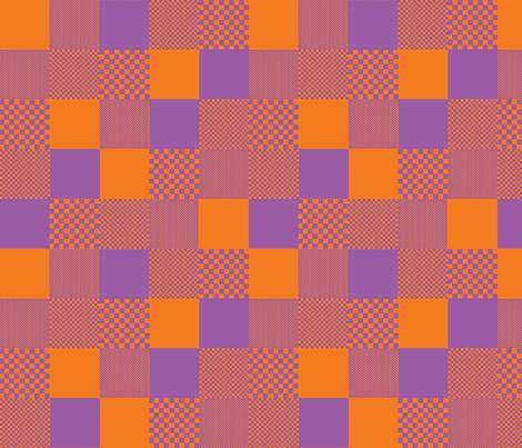 checkitout_orange purple fabric by glimmericks on Spoonflower - custom fabric