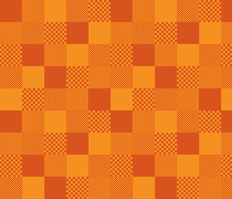 checkitout_orange tangerine fabric by glimmericks on Spoonflower - custom fabric