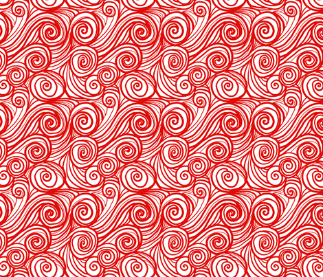 houle rouge blanc fabric by nadja_petremand on Spoonflower - custom fabric