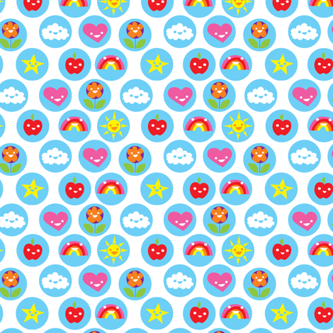 Always look at the bright side fabric by studiojelien on Spoonflower - custom fabric