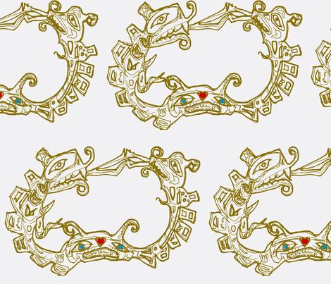 Just Sisiutl fabric by boris_thumbkin on Spoonflower - custom fabric