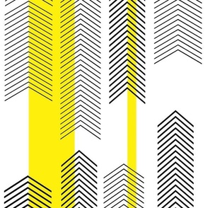 chevron stripe in yellow