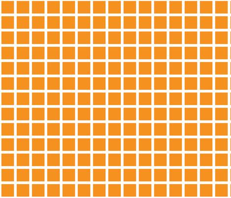 orange grid fabric by cristinapires on Spoonflower - custom fabric