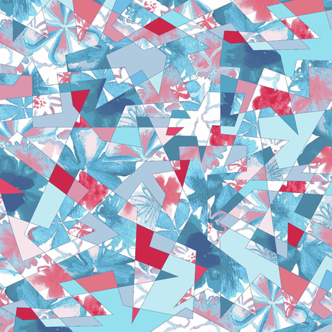 Shattered Floral fabric by chelsdens on Spoonflower - custom fabric