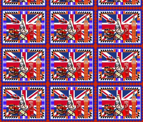 BRITISH POSTAGE STAMP fabric by bluevelvet on Spoonflower - custom fabric