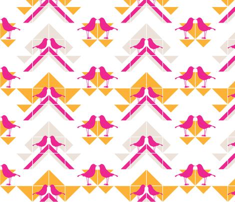 Geometrics/Birds No.1 fabric by lottiefrank on Spoonflower - custom fabric