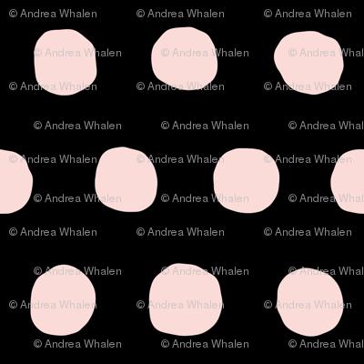 Jumbo Dots in blush/black