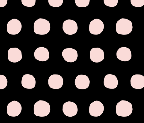 Jumbo Dots in blush/black fabric by domesticate on Spoonflower - custom fabric