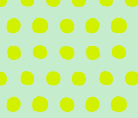 Jumbo Dots in mint/neon fabric by domesticate on Spoonflower - custom fabric