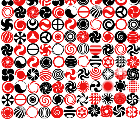 Circle Of Circles fabric by dancingwithfabric on Spoonflower - custom fabric
