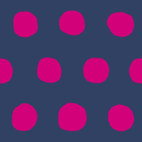 Jumbo Dots in navy/fuschia