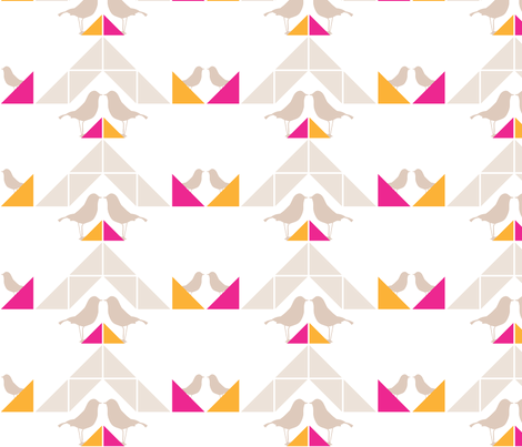 Geometrics/Birds No.5 fabric by lottiefrank on Spoonflower - custom fabric